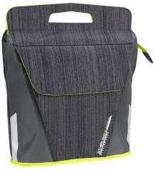 Oval Shopper Bicycle Bag Anthracite/Lime