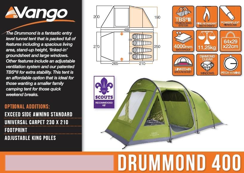 Vango Drummond 400 Footprint groundsheet